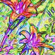 Tiger Lillies Art Print