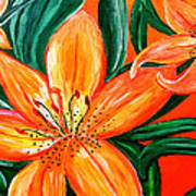 Tiger Lily Trio Art Print