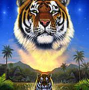 Tiger Of The Lake Art Print