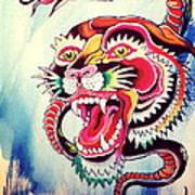 Tiger Snake Art Print