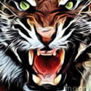Tiger Watercolour Art Print