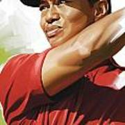 Tiger Woods Artwork Art Print