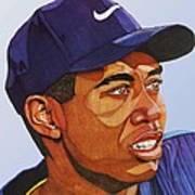 Tiger Woods Art Print