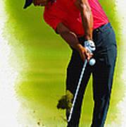 Tiger Woods - The Honda Classic Art Print