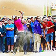 Tiger Woods - The Waste Management Phoenix Open At Tpc Scottsdal Art Print