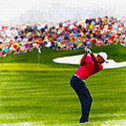 Tiger Woods - The Waste Management Phoenix Open  Art Print