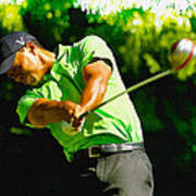 Tiger Woods - Wgc- Cadillac Championship Art Print
