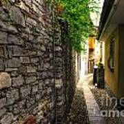 Tight Alley In Stone Art Print
