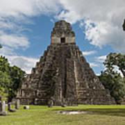 Tikal Pyramid 1j Art Print