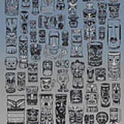 Tiki Nighttime Zone Art Print