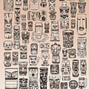 Tiki Sand Zone Art Print