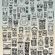 Tiki Time Zone Art Print