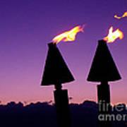 Tiki Torches Art Print