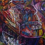 Tikor Woman Print by Peggy  Blood