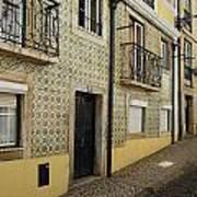 Tile Walls Of Lisbon Art Print