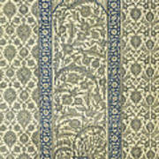 Tiled Panel From Mosque Of Ibrahym Agha From Arab Art As Seen Through The Monuments Of Cairo Art Print