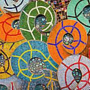 Tiled Swirls Art Print