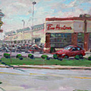 Tim Hortons By Niagara Falls Blvd Where I Have My Coffee Art Print