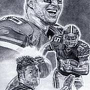 Tim Tebow Art Print by Jonathan Tooley