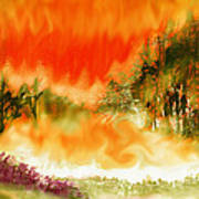 Timber Blaze Art Print
