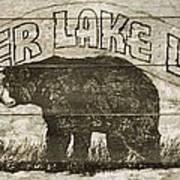 Timber Lake Lodge Art Print
