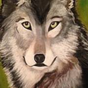 Timber Wolf In Summer Art Print