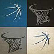 Timberwolves Ball And Hoop Art Print