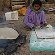 Time For Baking Bread Sinai Desert Egypt Art Print