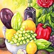 Time For Fruits And Vegetables Art Print