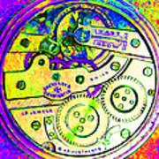 Time In Abstract 20130605m144 Square Art Print