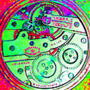 Time In Abstract 20130605m72 Square Art Print