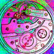 Time In Abstract 20130605p108 Square Art Print