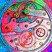 Time In Abstract 20130605p144 Square Art Print