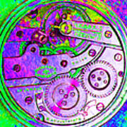 Time In Abstract 20130605p72 Square Art Print