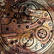 Time In Abstract 20130605rust Square Art Print by Wingsdomain Art and Photography