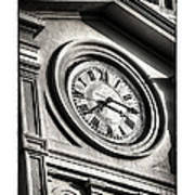 Time In Black And White Art Print