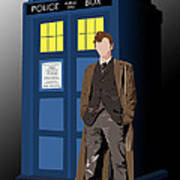 Time Lord And His Tardis Art Print