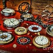 Time - Pocket Watches  Art Print by Paul Ward