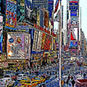 Time Square New York 20130430v2 Art Print by Wingsdomain Art and Photography