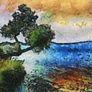 Time Well Spent - Medina Lake Art Print