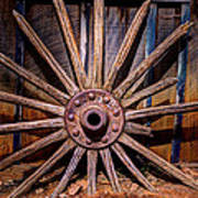 Time Worn Wheel Art Print