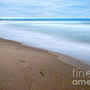 Time - Zmudowski State Beach In Monterey County Ocean Slow Waves. Art Print