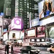 Times Square At Night Art Print