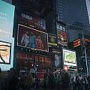 Times Square At Night Art Print