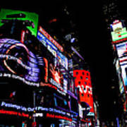 Times Square Lights Art Print