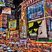 Times Square Art Print by Randy Aveille