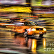 Times Square Taxi I Art Print by Clarence Holmes