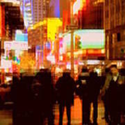Times Square - The Lights Of New York Art Print