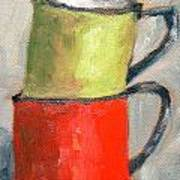 Tin Cups Art Print