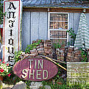Tin Shed Apalachicola Florida Art Print